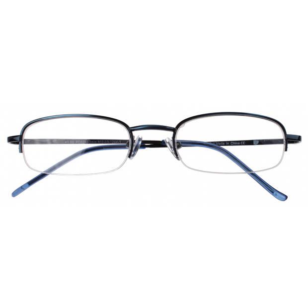 H2Optics leesbril unisex donkerblauw