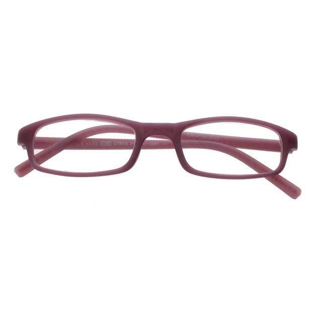 TOM Leesbril rechthoekig unisex paars sterkte +3.50