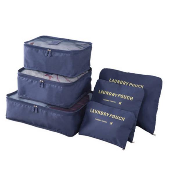 Packing cubes - 6 stuks - Koffer Organiser - Navy