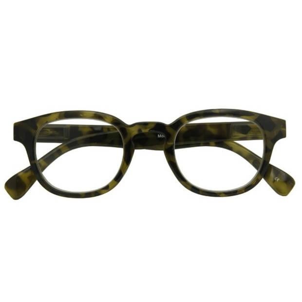 Croon leesbril Montel unisex camouflage groen