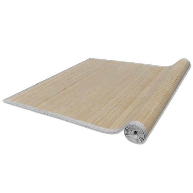 Rechthoekige bamboe mat 80 x 200 cm (Neutraal)