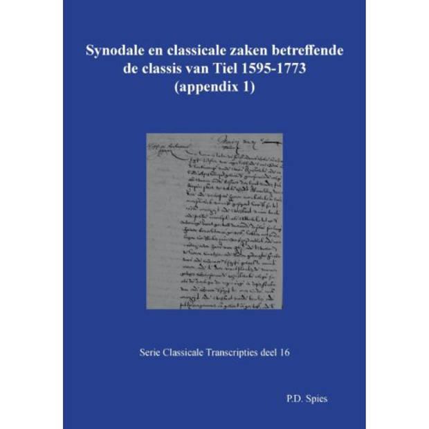 Synodale En Classicale Zaken Betreffende De