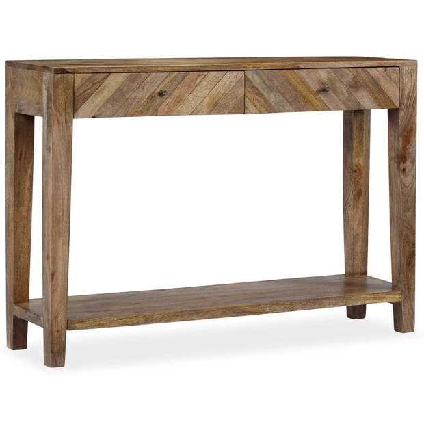 vidaXL Wandtafel vintage stijl 118x30x80 cm massief hout