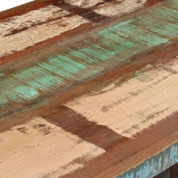 vidaXL Bureau 140x50x77 cm massief gerecycled hout