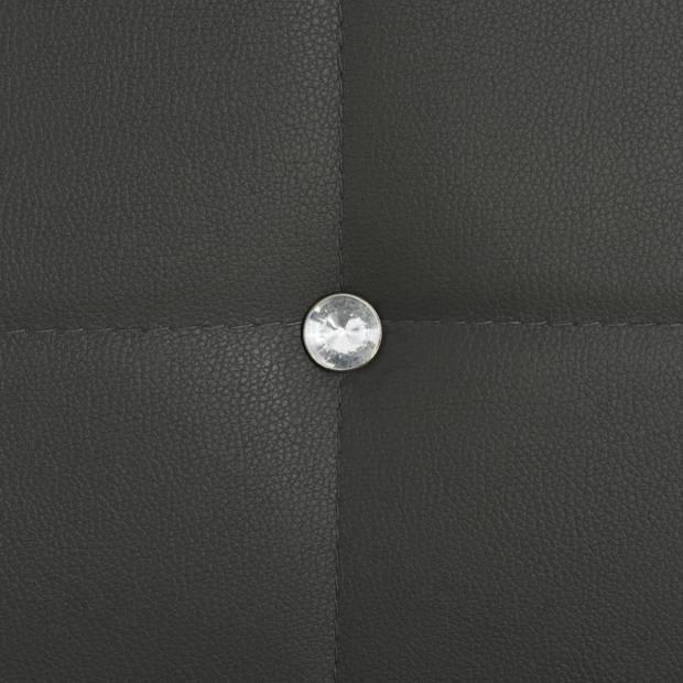 vidaXL Eetkamerstoelen 43x43,5x96 cm kunstleer grijs 4 st