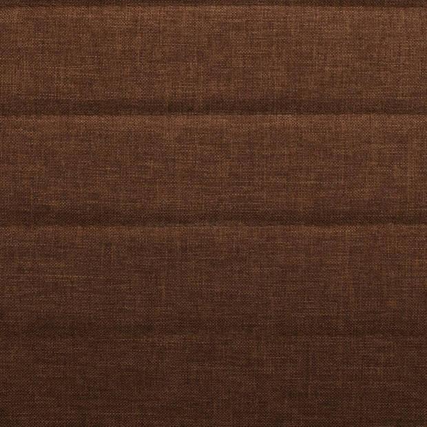 vidaXL Eetkamerstoelen 4 st stof bruin