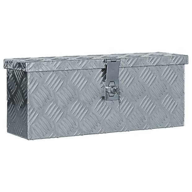 vidaXL Doos 48,5x14x20 cm aluminium zilverkleurig