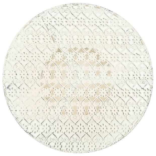 vidaXL Bistrotafel vintage stijl rond 40x70 cm metaal wit