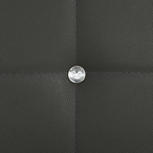 vidaXL Eetkamerstoelen 43x43,5x96 cm kunstleer grijs 6 st