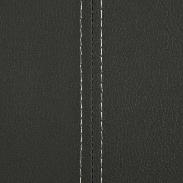 vidaXL Eetkamerstoelen 4 st kunstleer grijs