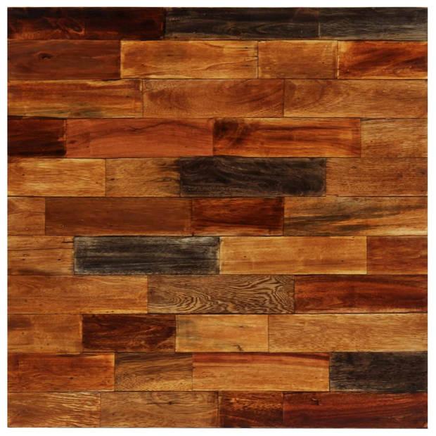 vidaXL Bartafel 70x70x106 cm massief gerecycled hout