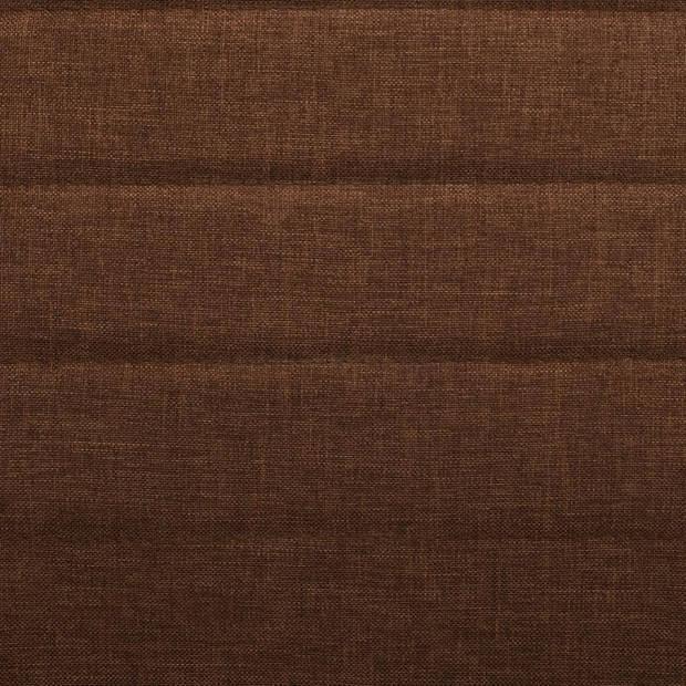 vidaXL Eetkamerstoelen stof bruin 2 st