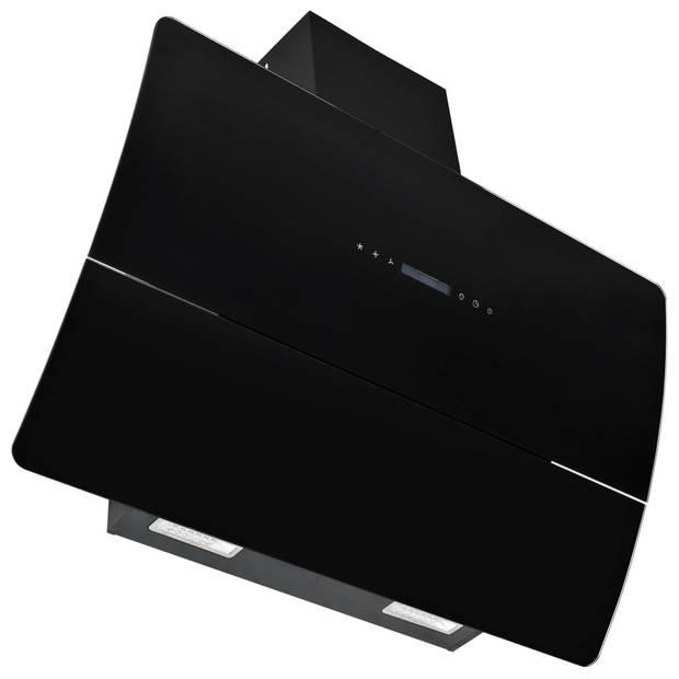vidaXL Wandafzuigkap 756 m³/u 90 cm roestvrij staal zwart