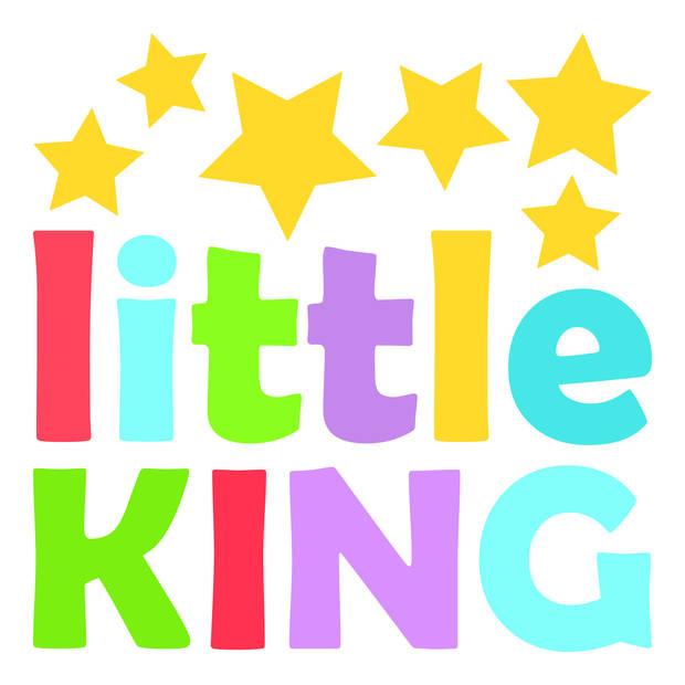Kids Decor muursticker Little King jongens 2 stickervellen