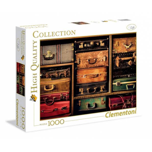 Clementoni puzzel Travel Suitcases 1000 stukjes