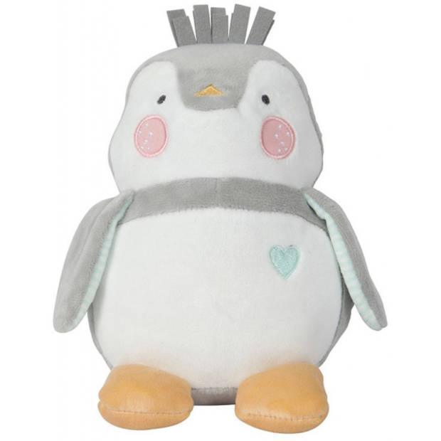 Tiamo knuffel Lou-Lou 28 cm pluche grijs/wit