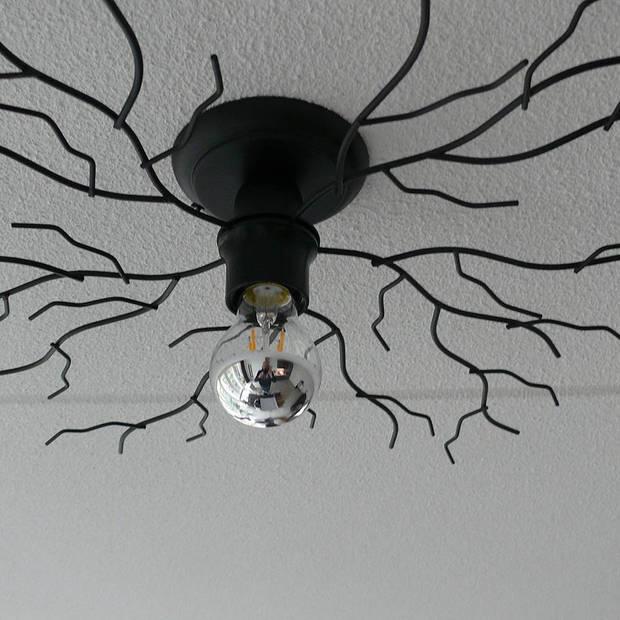 I-Lumen Plafondlamp Bichero Ø 60 cm zwart incl LED Kopspiegel