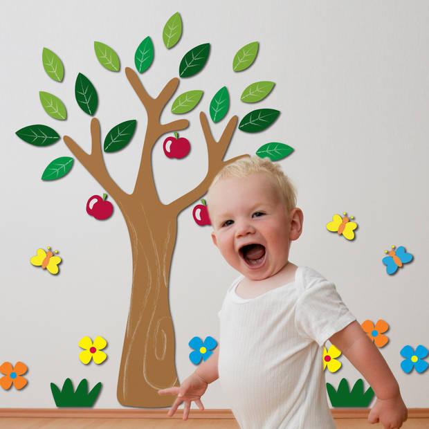 Kids Decor muurdecoratie 3D foam Apple Tree junior 47 x 70 cm