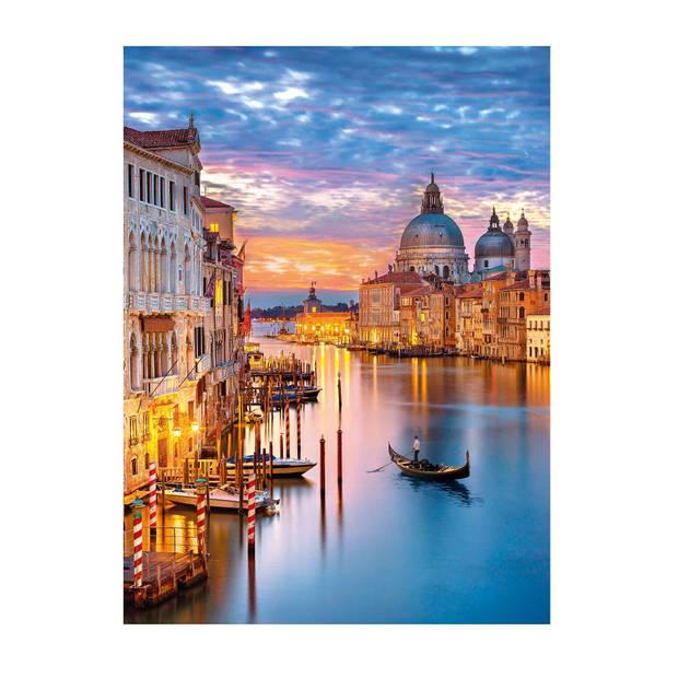 Clementoni puzzel Lighting Venice 500 stukjes