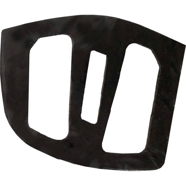 Ergotec stickers schuurpapier voor pedalen-EP-2 4 stuks zwart