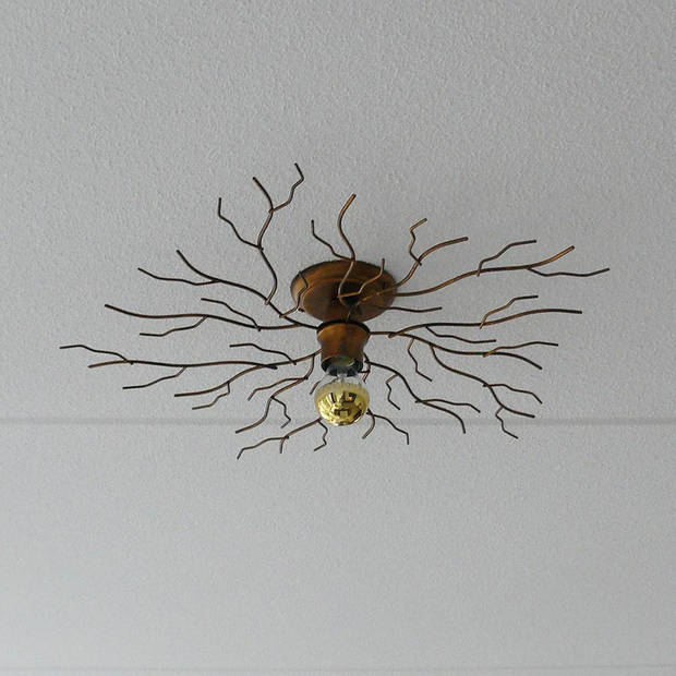 I-Lumen Plafondlamp Bichero Ø 60 cm goud-bruin