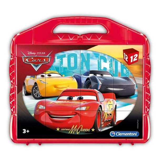 Clementoni blokkenpuzzel Cubi 12 - Cars 3 12 blokken