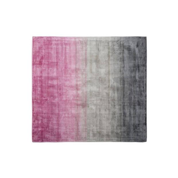 Beliani ERCIS Vloerkleed Kunstzijde 200 x 200 cm