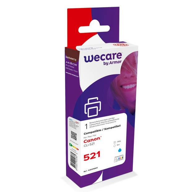 weCare Cartridge Canon CLI-521 Blauw