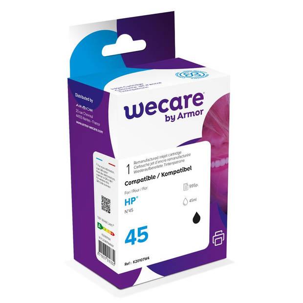 weCare Cartridge compatible met HP 45 Zwart