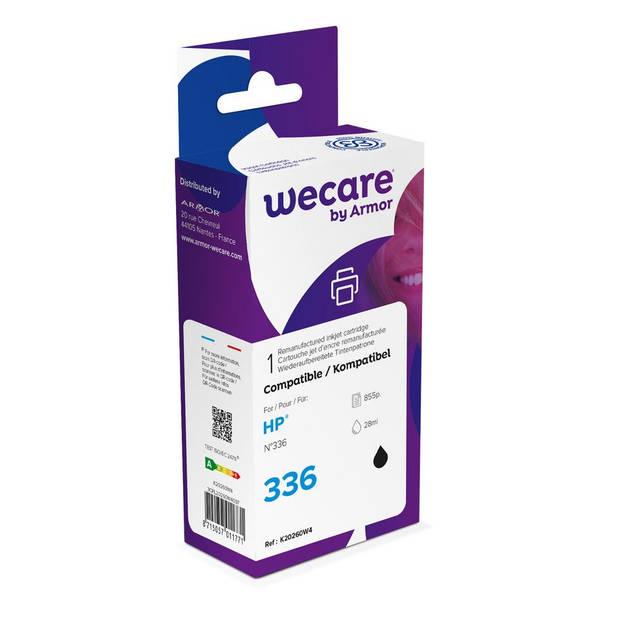 weCare Cartridge compatible met HP 336 Zwart