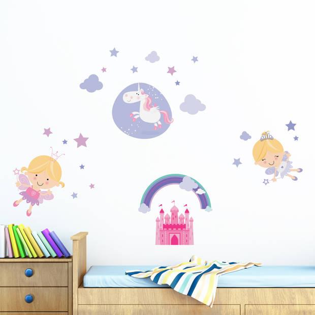 Kids Decor muurstickers sprookjes 47 x 70 cm