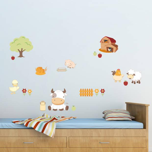 Kids Decor muurstickers Baby Farm 47 x 70 cm