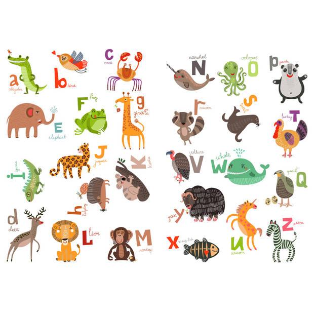Kids Decor muursticker dierenalfabet 94 x 67 cm