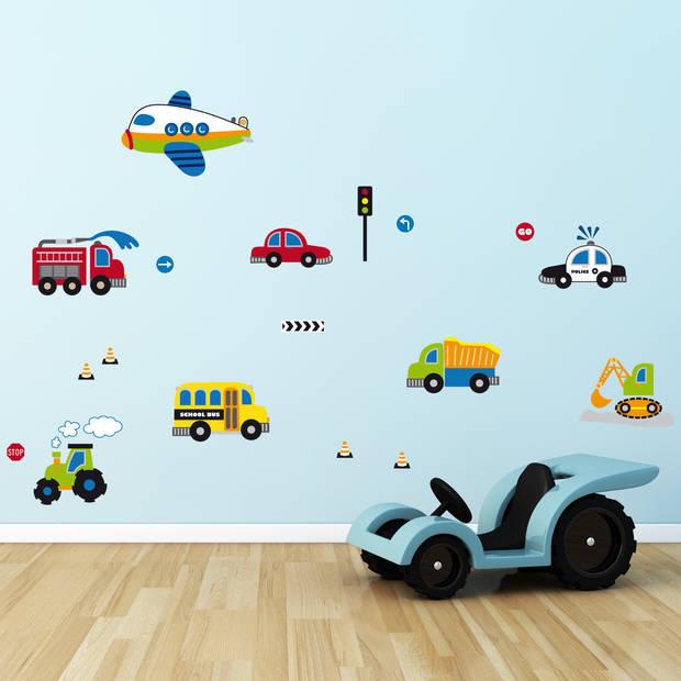Kids Decor muurstickers voertuigen 47 x 70 cm