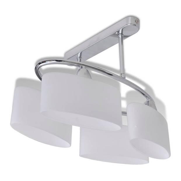 vidaXL Plafondlamp met ellips glazen kapjes (4 x E14)