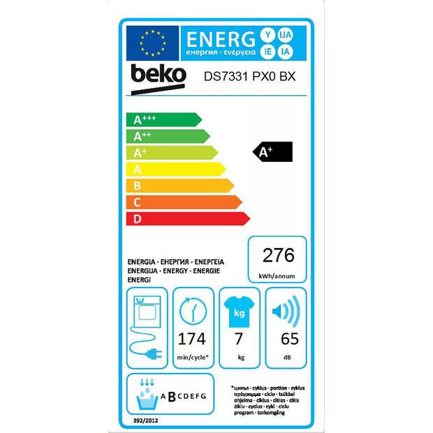 Beko DS7331PX0BX warmtepompdrogers - Wit