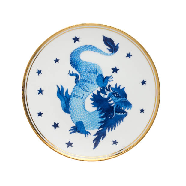 Bitossi Home Funky Table Ontbijtbord - Dragon - Ø 17 cm - Porselein