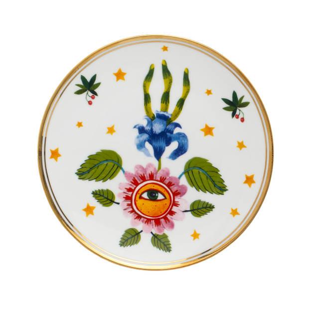 Bitossi Home Funky Table Bord - Flower Eye - Ø 17 cm - Porselein