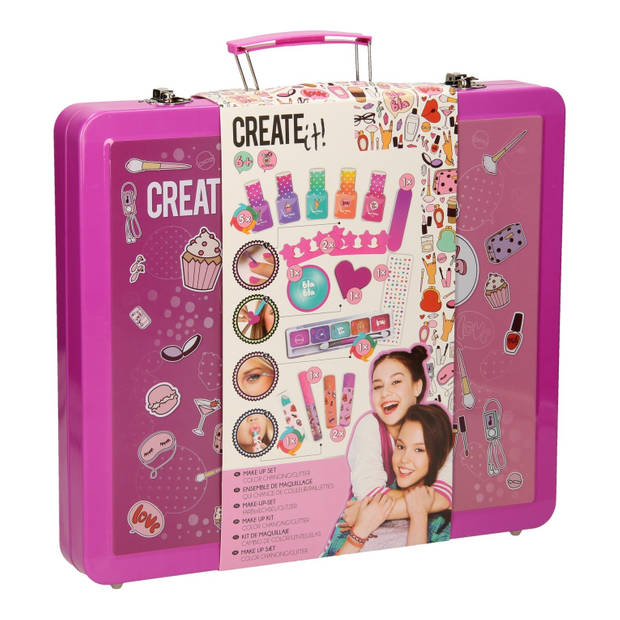 Create it! make-upset met koffer 31 x 28 x 5 cm