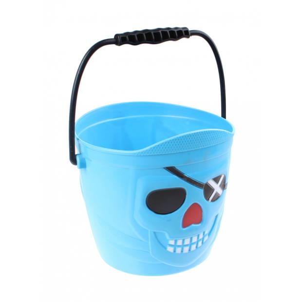 Free and Easy strandemmer piraat blauw 16 cm