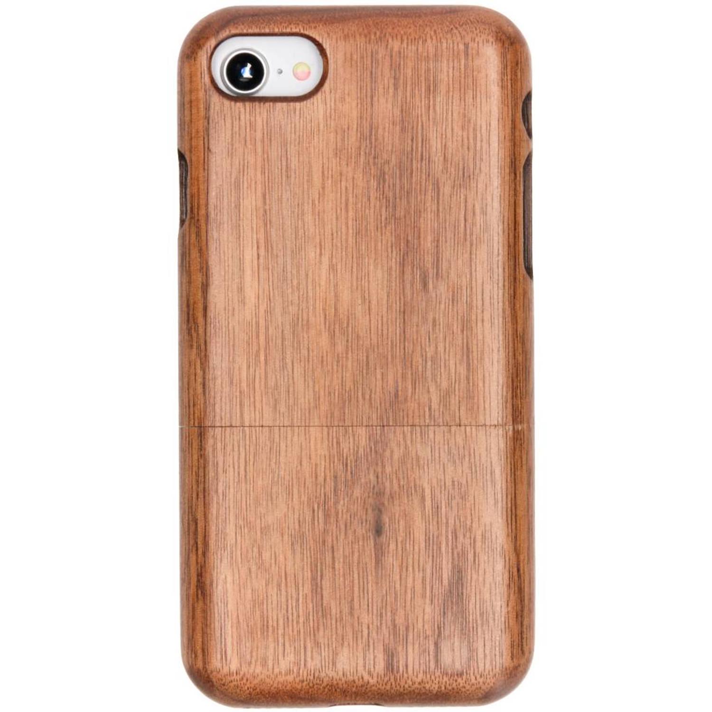 Kastanjebruin echt houten hardcase hoesje voor de iPhone 8-7