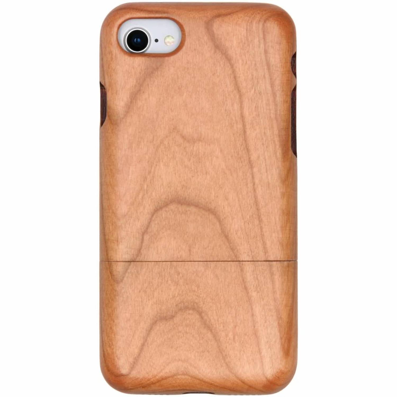 Lichtbruin echt houten hardcase hoesje voor de iPhone 8-7