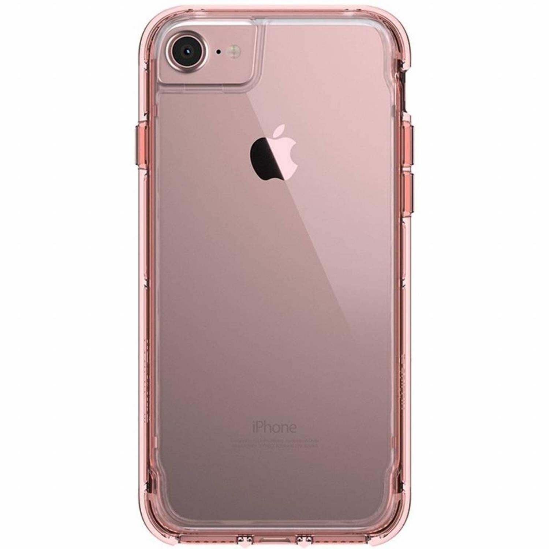 Roze Survivor Clear Case voor de iPhone 8 / 7 / 6 / 6s