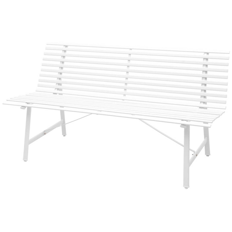 vidaXL Tuinbank 150 cm staal wit