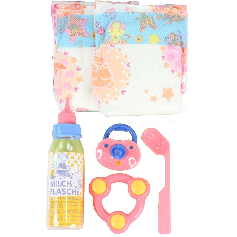 Heless babypop verzorgingsset 6 delig roze