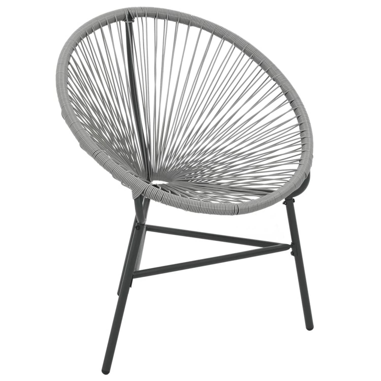 Image of vidaXL Maanstoel voor in de tuin 69x66x87 cm poly rattan grijs