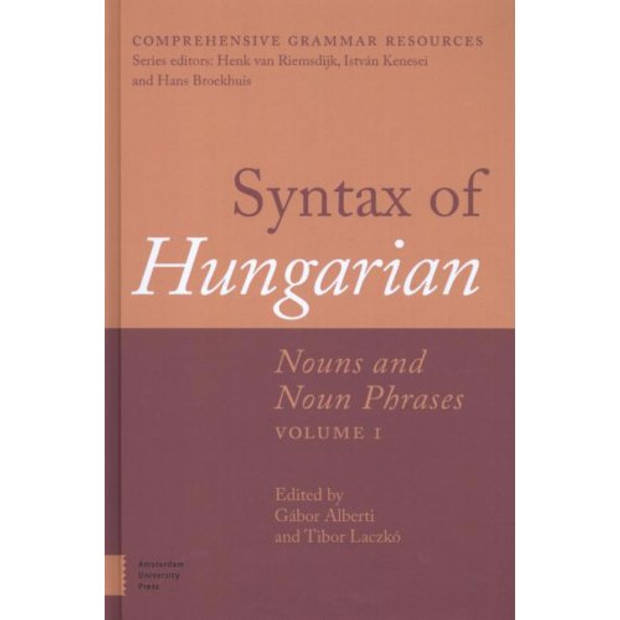 Syntax Of Hungarian / 1 Nouns And Noun Phrases -