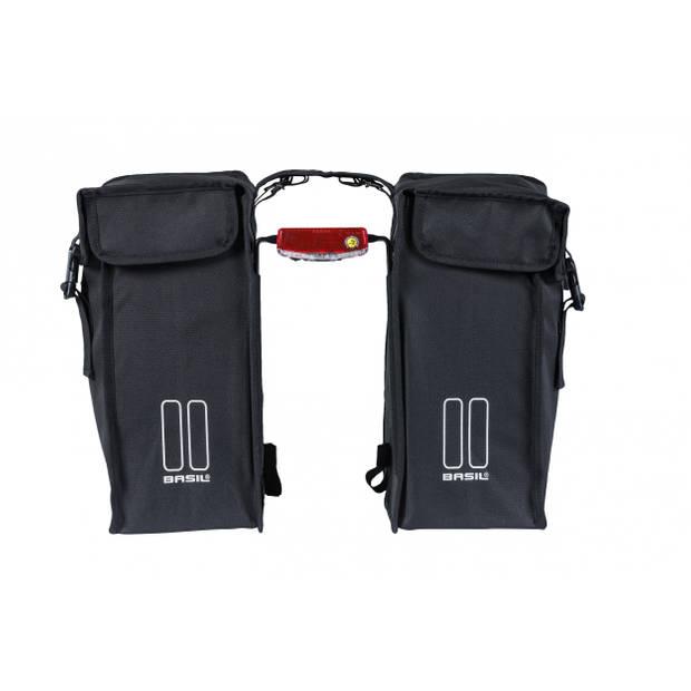 Basil afstandhouder voor dubbele fietstassen zwart