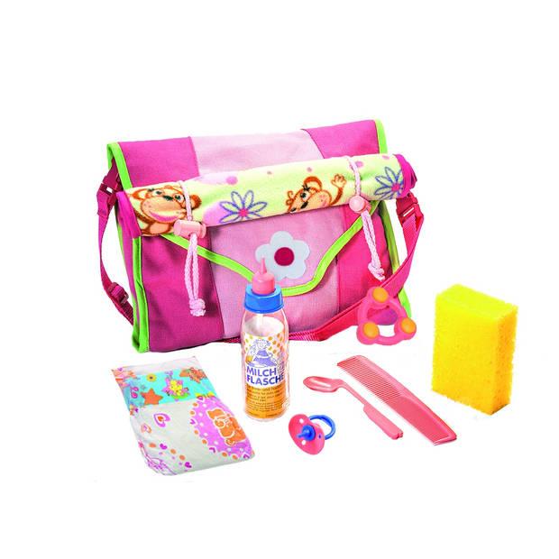 Heless Poppen verzorgingstas met accessoires roze 24 cm