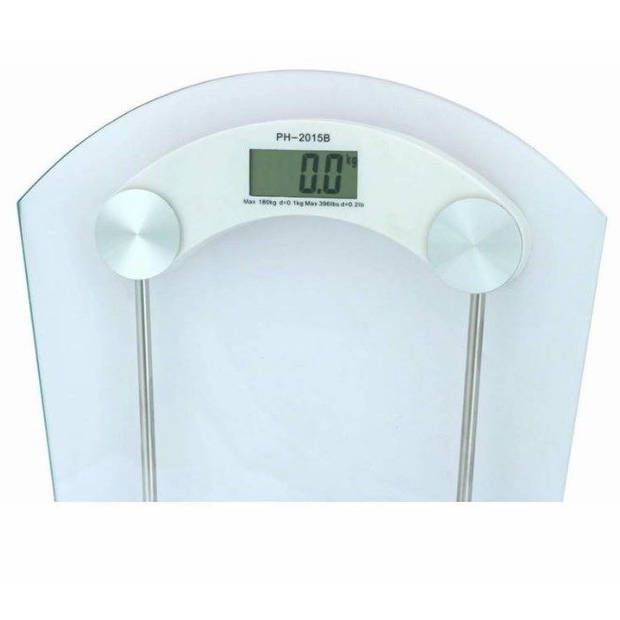 HomeLine Weegschaal - Digitale Glas Personenweegschaal tot 190 kg